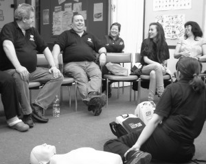 ReachOut Members during a HeartStart training Session